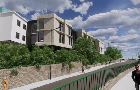 Hele road from Exeter College's £70m property masterplan